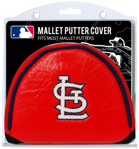 Team Golf MLB St Louis Cardinals Golf Club Mallet Putter Headcover, Fits Most Mallet Putters, Scotty Cameron, Daddy Long Legs, Taylormade, Odyssey, Titleist, Ping, Callaway