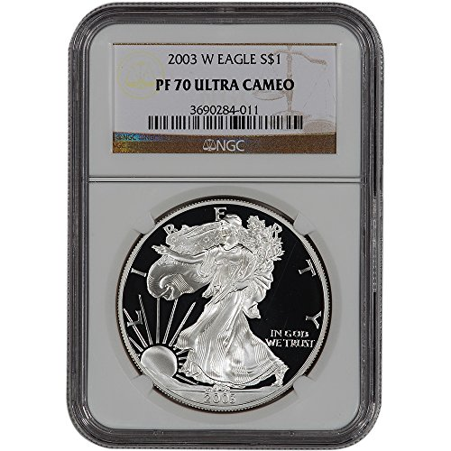 2003 W American Silver Eagle Proof $1 PF70 UCAM (Ngc Pf70 Proof)