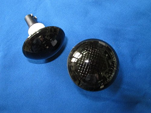 (2) Smoke Side Marker Repeater Light Lamps Set CarLab