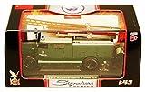 1941 Magirus-Deutz S 3000 SLG Fire Engine Fcciwilligc Fcuerweht Mainleus, Green - Yatming 43014 - 1/43 Scale Diecast Model Toy Car