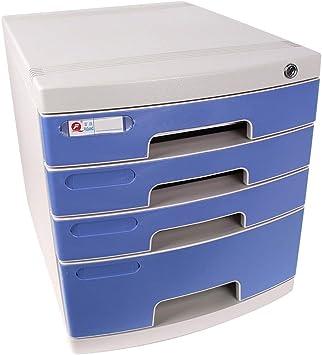 Archivadores Almacenamiento de plástico cajones Unidad de Almacenamiento con Cerradura Organizador archivador A4 Caja for la Oficina/Color: Azul (Tamaño: 370 * 290 * 315 mm) Artículos de Oficina: Amazon.es: Electrónica