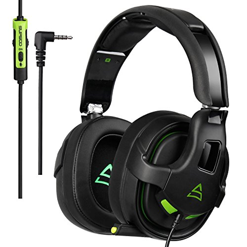 Hitommy Supsoo G818 Gaming Headset Headphone 3.5mm Pure Stereo Over-ear Microphone Line Control by Hitommy