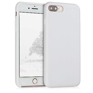 kwmobile Funda para Apple iPhone 7 Plus / 8 Plus - Carcasa de [TPU] para teléfono móvil - Cover [Trasero] en [Blanco]