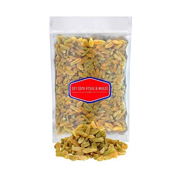 SFT Raisins Afghani Green Organic (Kishmish) Seedless , Dry Grapes 1 Kg