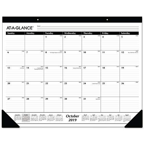 AT-A-GLANCE 2019-2020 Academic Year Desk Pad Calendar, Standard, 21-3/4