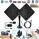TV Antenna HDTV Antenna,Amplified HD Digital TV Antenna Indoor TV Antennae 50 Miles Range with Detachable Amplifier Signal Booster,Designed for The Best Reception On UHF and VHF Bands