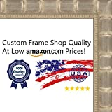 12x36 Bamboo Silver Wood Picture Panoramic Frame - UV Acrylic, Foam Board Backing, & Hanging Hardware Included!