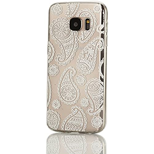 Galaxy S7 Case, Weline White Little Jellyfish Pattern Ultra Slim Crystal Clear Rubber Gel TPU Soft Silicone Bumper Sales
