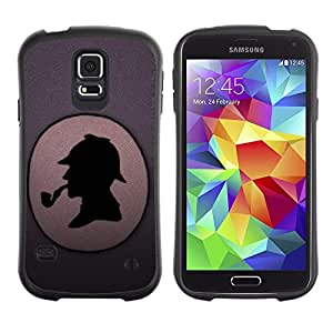 Paccase / Suave TPU GEL Caso Carcasa de Protección Funda para - Funny Detective - Samsung Galaxy S5 SM-G900