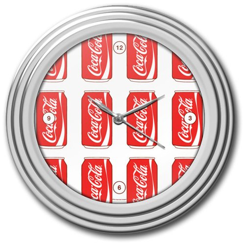 Coca-Cola Chrome Clock, 12