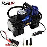 FORUP Heavy Duty Portable Air Compressor Pump, 12V DC Tire Inflator for Car, SUV, Bicycle and Other Inflatables (Single Cylinder)