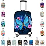 Bigcardesigns Blue Butterfly Luggage Covers Apply to 26-30 Inch Travel Suitcase L