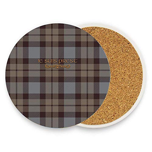 - CoolToiletLidCoverCC Tartan Outlander Custom Ceramic Coaster Absorbent Stone Coaster for Cold Drinks Coffee Mug Glass Cup Mats Pack Of 1