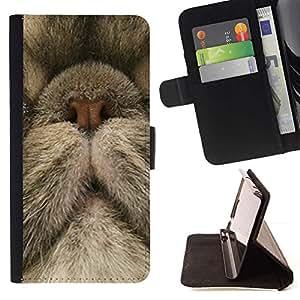 Momo Phone Case / Flip Funda de Cuero Case Cover - Nariz del gato persa Gatito lindo gatito; - Samsung Galaxy S4 Mini i9190