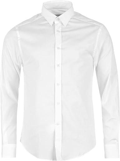Versace Camisa Casual - Manga Larga - Para Hombre Blanco X ...