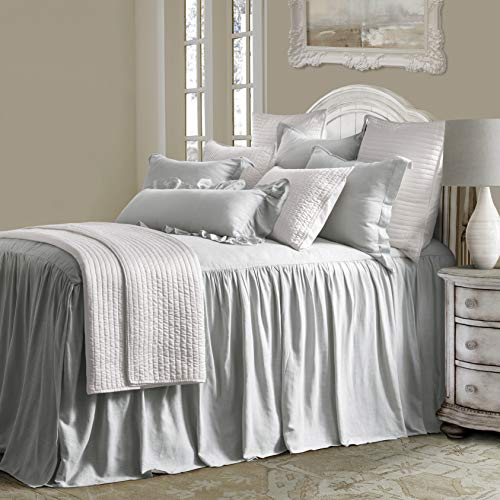 - HiEnd Accents Luna Bedspread Queen Grey