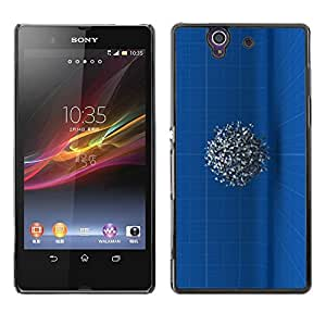 Be Good Phone Accessory // Dura Cáscara cubierta Protectora Caso Carcasa Funda de Protección para Sony Xperia Z L36H C6602 C6603 C6606 C6616 // Engineer Drawing Mysterious 3D