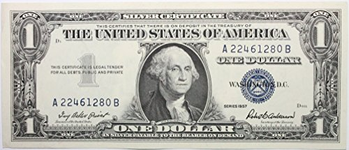 - 1957 Plain Silver Certificate in Very Good Condition