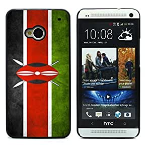 Graphic4You Vintage Kenyan Flag of Kenya Design Hard Case Cover for HTC One (M7) by ruishername