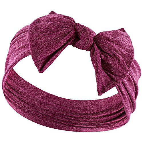 YOUR NEW FAVORITE HEADBAND Super Stretchy KNOT BABY HEADBAND For Newborn and Baby Girls By Zelda Matilda,Burgundy