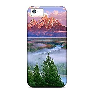 Iphone Case - Tpu Case Protective For Iphone 5c- Gorgeous Mountain Forest Beauty