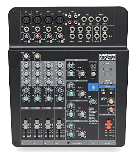 Samson Mixpad MXP124FX Compact, 12-Channel Analog Stereo Mixer with Effects and USB by Samson Technologies (Image #1)