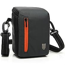 First2savvv BDV2501 black luxury quality anti-shock Nylon camera case bag for Canon PowerShot SX420 . SX410 . EOS M10 . EOS M3. G1X Mark II