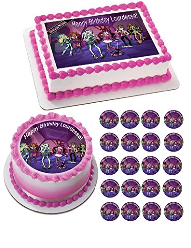 MONSTER HIGH - Edible Cupcake Toppers - 2