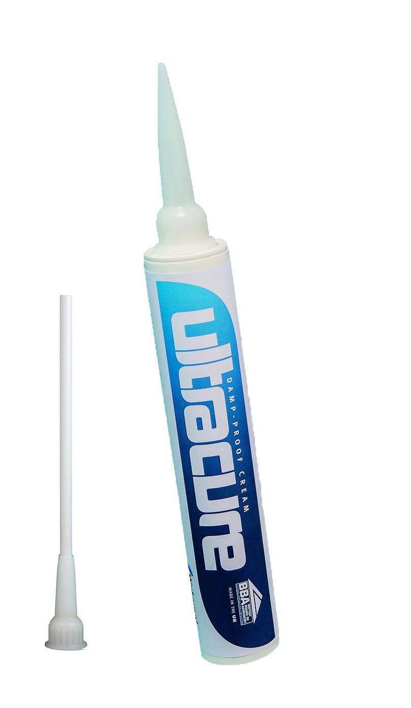 Damp Proof Cream DPC 380ml x 3 Tubes c/w Nozzle Wykamol