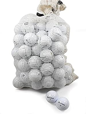 Recycled Used Golf Balls Cleaned - Taylormade B/C Grade Golf Balls 72 Balls Assorted Models in Onion Mesh Bag by Nitro Golf LLC