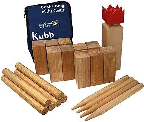 Garden Games - Kubb, Juego Vikingo de Madera de Pino Maciza (531): Garden Games Kubb Kings Games Pack: Amazon.es: Juguetes y juegos