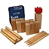 Kubb Outdoor Lawn Set | Garden Games - Wood Yard Game | 12 in King Piece