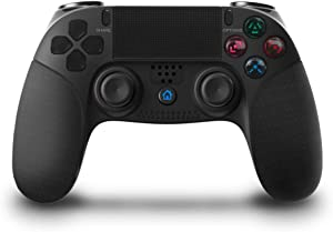 Game Controller for PS4,KINGEAR Wireless pro Controller USB Gamepad for Playstation 4 with Dual Vibration (Black)