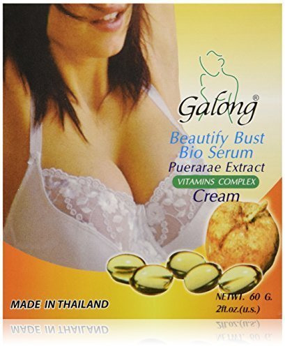 Galong Pueraria Mirifica Bio Serum Bust Enlargement Firming Cream Natural Herbal Firming Cream Creme (Firm Cream Breast From a to F Cup) X 1 Box