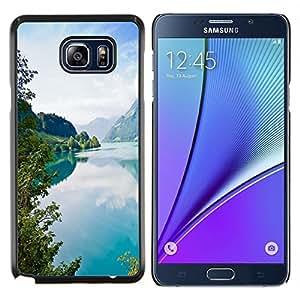 YiPhone /// Prima de resorte delgada de la cubierta del caso de Shell Armor - Tourquise Blue Lake - Samsung Galaxy Note 5 5th N9200