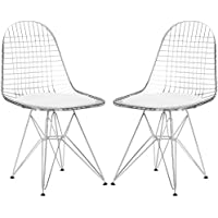 Poly and Bark Hamlet Side Chair in White (Set of 2)