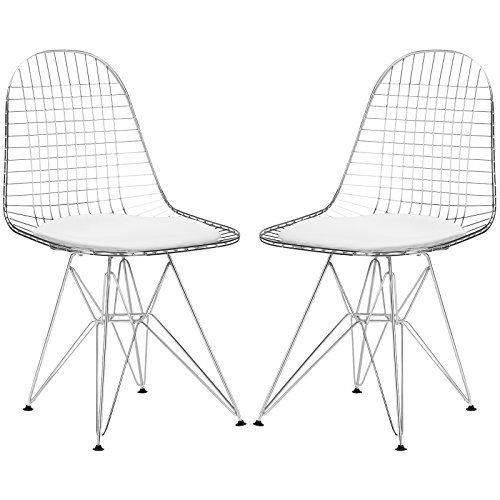 (Poly and Bark EM-107-WHI-X2 Hamlet Dining Chairs (Set of 2), White)