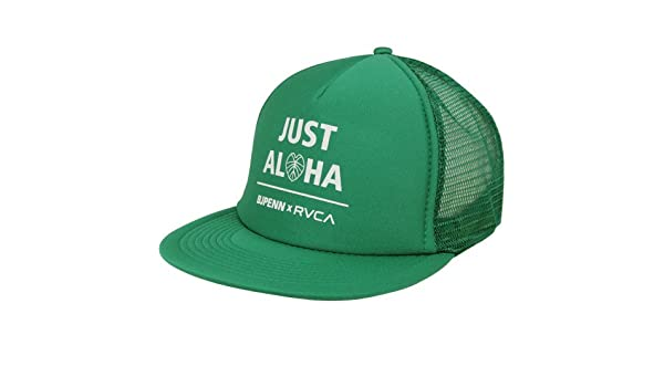 edf64acb92074 ... top quality amazon rvca bj penn just aloha trucker snapback adjustable  hat kelly green beauty 5ae6d