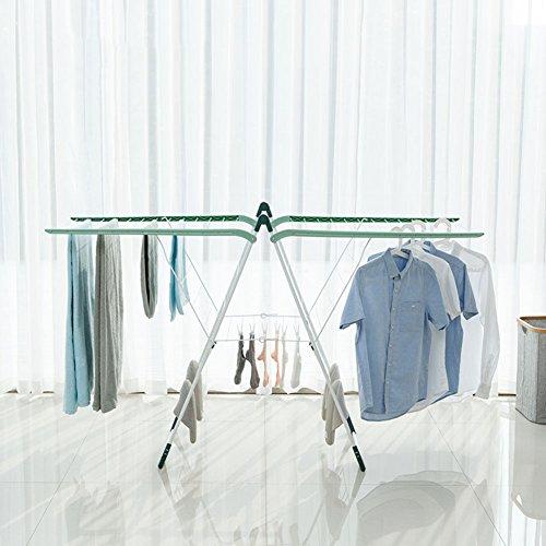 SKKGN Airfoil Drying Rack, Floor Folding Dryer Indoor & outd