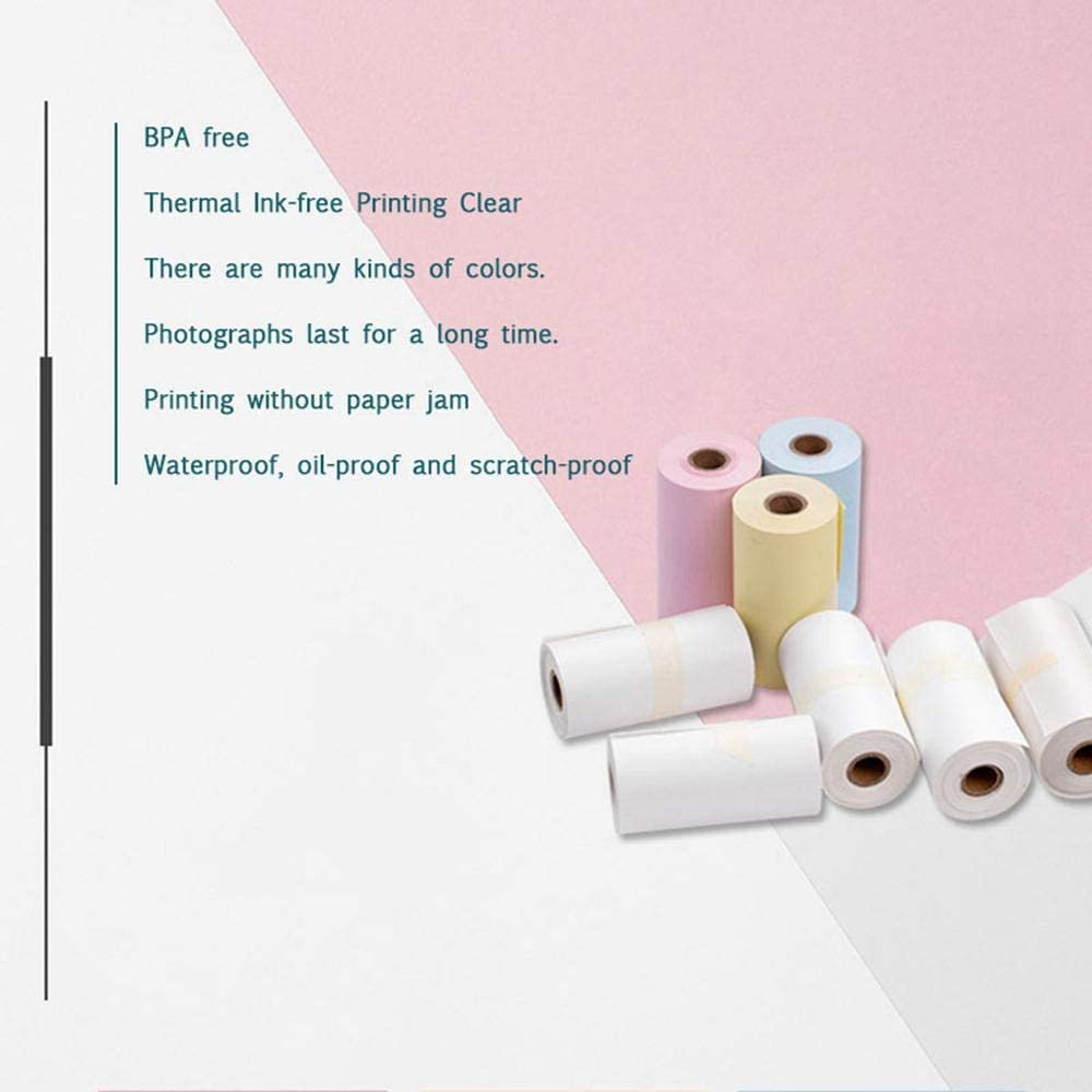 MOGOI 3 Rolls Thermal Paper 2.09inch Width Mini Pocket Printer M02 Official Special Thermal Receipt Paper