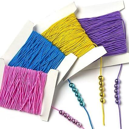 Baker Ross /Élastiques color/és Lot de 4 Id/éal pour la cr/éation de bracelets et de colliers