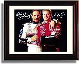 Framed Dale Earnhardt & Dale Jr Father/Son Pose Autograph Replica Print