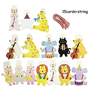 Yunko 22 Pcs Animals Theme Party Decoration, Balloons and Banners Set For Baby Shower from Yunko