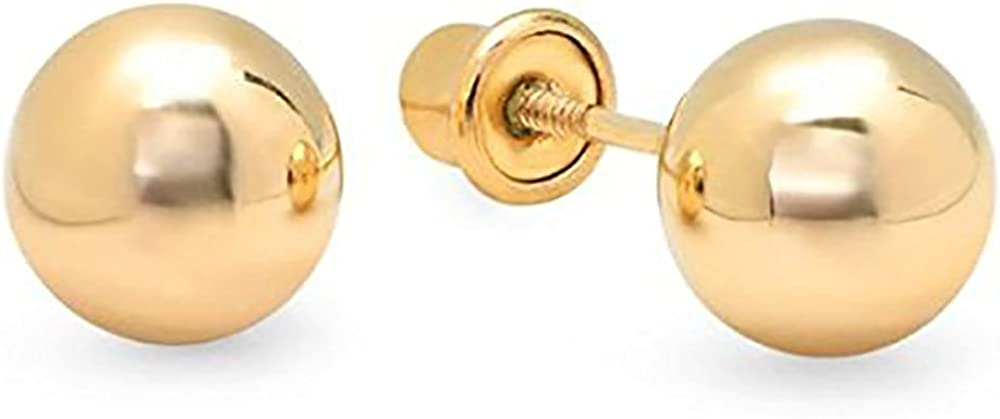 14k Yellow Gold Ball Stud...
