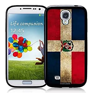 Cool Painting Flag of Dominican Republic Grunge - Protective Designer BLACK Case - Fits Samsung Galaxy S4 i9500 wangjiang maoyi