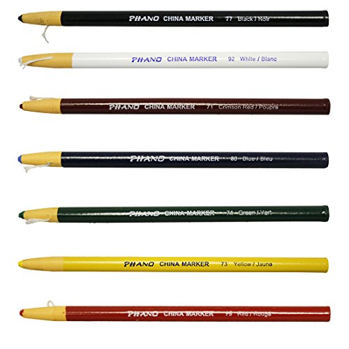 China Markers Wax Pencils-- Full Set of 7 Colors by Phano