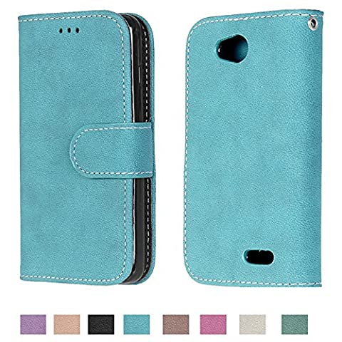 Optimus L90 Case, Optimus L90 Wallet Case TOMYOU Suede Leather Scratch-resistant Anti Slip Built in Card Slots Holder Kickstand Cover for LG Optimus L90 (Lg Optimus L90 Cat Case)