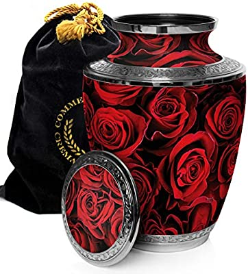 Crimson Rose Cremation Urns for Adult Ashes for Funeral