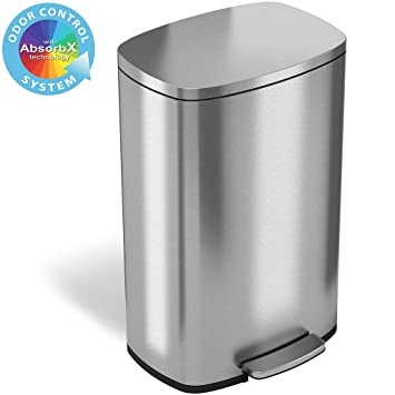 Amazon.com: iTouchless SoftStep 13 Gallon - Taza de basura ...
