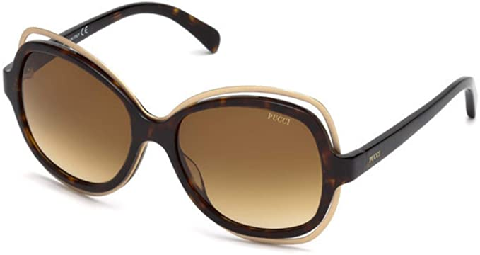 a8bde5fc5d93 Image Unavailable. Image not available for. Color: Sunglasses Emilio Pucci  EP 56 EP 0056 52F dark havana / gradient brown